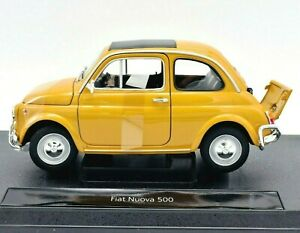 Details about Model Car Scale 1:18 Fiat Nuova 500 Car Model Modeling RC  Model New