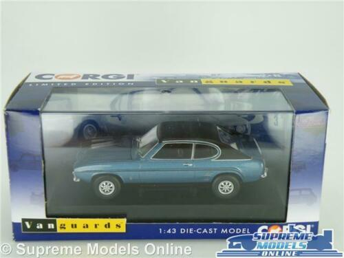 Ford Capri MK1 3000 Azul Coche Modelo Gxl 1:43 escala vanguardias VA13308 Mark One K8