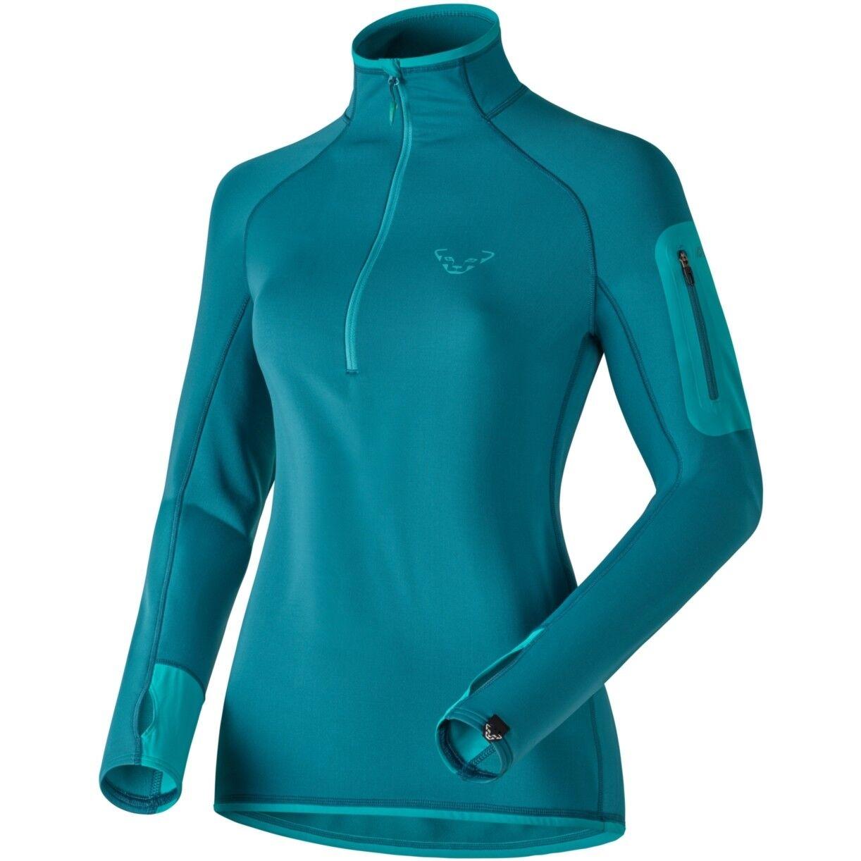 NEW Dynafit THERMAL Womens XL 1 2 Zip Tee Hiking Running Midlayer Shirt Msrp 120