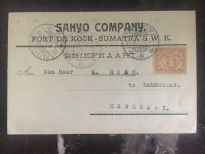 1925 Fort De Knox Sumatra Niederlande Indies Postal Ganzsachen Sanyo Company