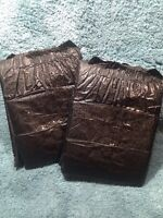 Adult Diaper Black Plastic Abdl Thick Nappy 2 Pack Sample