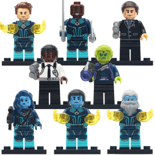 Lego Custom Captain Marvel Star force Members Minifigures 8 characters