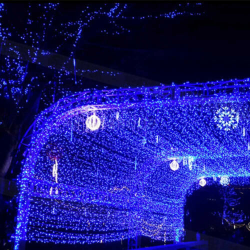 US Blue 96-1000 LED Christmas String Fairy In//Outdoor Icicle Curtain Lights Lamp
