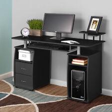 Computer Desk PC Laptop Writing Table Workstation Drawers Monitor&Printer Shelf