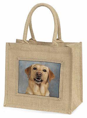 Gelber Labrador Große Natürliche Jute-einkaufstasche Weihnachten , AD-L3BLN