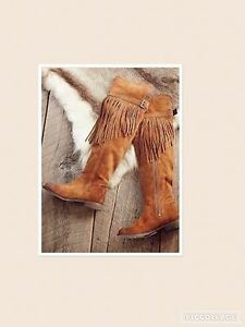 Free-people-sz-36EU-Fp-Collection-Can-039-T-Stop-Fringe-Over-The-Knee-Boot-new