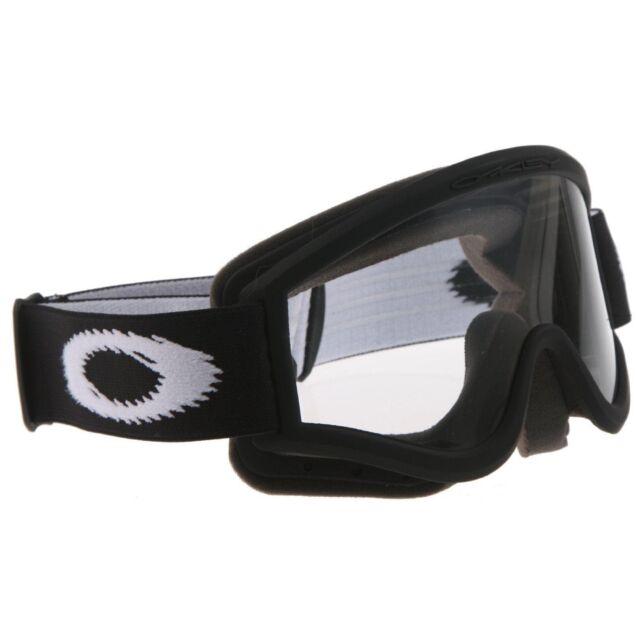 2018 Oakley O Frame Goggles Matte Black Clear Lens Motocross Enduro ...