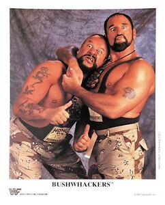 WWE-BUSHWHACKERS-P-267-OFFICIAL-LICENSED-AUTHENTIC-8X10-PROMO-PHOTO-VERY-RARE