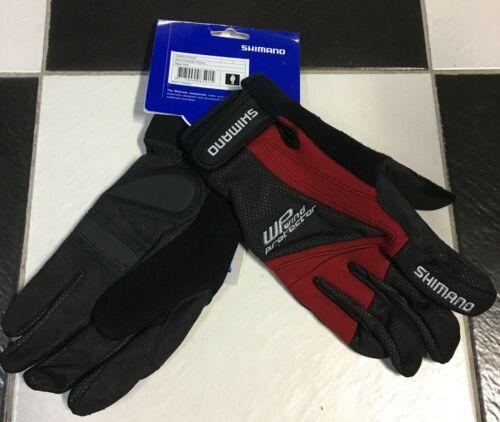 Guanti invernali bici Shimano WP Wind protector windtex red bike winter gloves