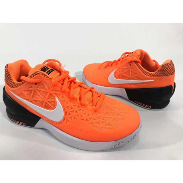 Nike Court Zoom Cage 2 Size 6 Women s Orange White Tennis Shoes 705260-802  for sale online  9fa594ed3fa