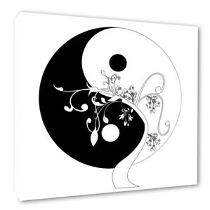 Yin Yang Symbol Picture Wall Canvas Print Yin Yang Picture Print 2 Sizes #198 Wall Hangings