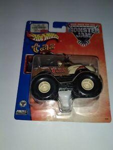 2003-Hot-Wheels-Monster-Jam-7-Taz-1-64-scale-rare-old-vhtf-metal-base-truck
