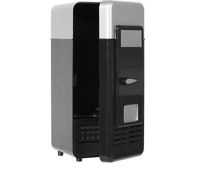 Usb Mini Fridge Cools Down Refrigerator LED Light Classic Portable Can Cooler