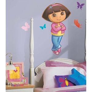 Dora the explorer wall decal mural girls big new bedroom for Dora the explorer wall mural