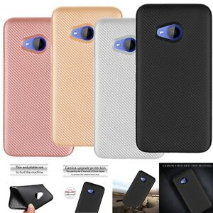 best service 66b21 0c8d9 Details about Silicone Thin Protective Case Carbon Fiber Cover For HTC  Desire 626 U11 U Play