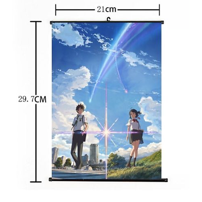 Hot Japan Anime Kimi no Na wa Your Name Poster Wall Scroll Home Decor FL1015