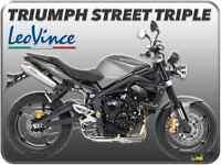TERMINALI DI SCARICO LEOVINCE GP-STYLE INOX TRIUMPH STREET TRIPLE 675 07 > 12