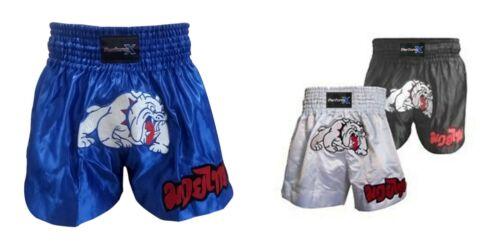 MUAY THAI BOXING SHORTS BULLDOG MMA KICK FIGHT SHORT BOXING ADULT KIDS ALL SIZES