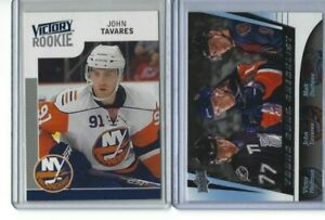 2009-2010-JOHN-TAVARES-Victory-ROOKIE-RC-and-YG-Young-Guns-Checklist-LOT-of-two