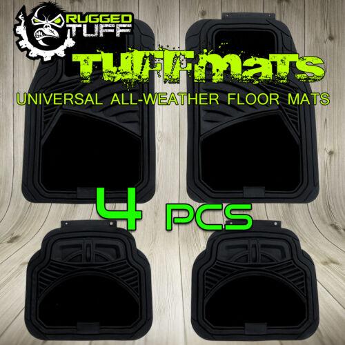 NEW 4 PCS RUGGED TUFF SUV BLACK FLOOR MATS UNIVERSAL FIT SEMI CARPET HEAVY DUTY