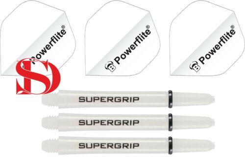Bull/'s Flights Powerflite Weiss 100micron Harrows Super Grip Weiss