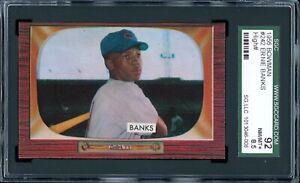 Ernie-Banks-1955-Bowman-Chicago-Cubs-Card-242-SGC-8-5