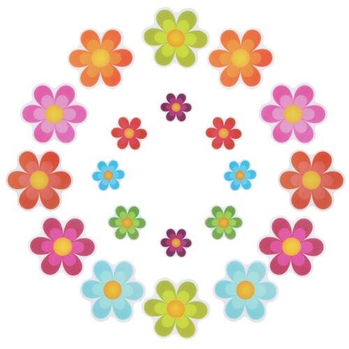 20Pc Flower Safety Anti-slip Treads Adhesive Applique Stickers Decals Tub Decals