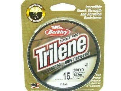 Berkley Trilene 100/% Flurocarbon Fishing Line 15LB 200yd