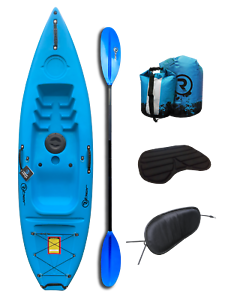 Comfort Pack Riber Sit On Top Kayak Blue Ideal for Beginners and Juniors