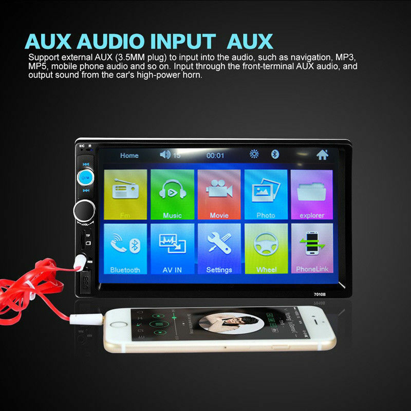 s l1600 - Autoradio 2 Din 7'' Car Bluetooth MP5 Estéreo Player FM Bluetooth USB AUX SP