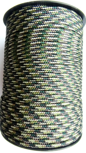 Paracord Câble plat Ligne de chaîne Poly 3+mm synthétique voile tie Cordon Corde UK