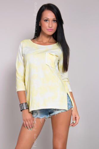Women/'s Casual Top With Pocket 3//4 Sleeve T-Shirt Tunic Size 8-12 FT974