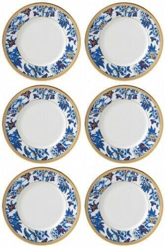 Wedgwood Hibiscus pain et beurre plaque 6 Six assiettes neuf avec étiquette  40003898