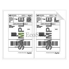 100 85 X 55 Xl Premium Shipping Half Sheet Self Adhesive Ebay Paypal Labels