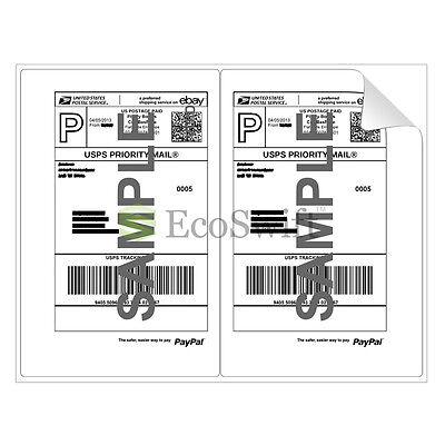 (100) 8.5 x 5.5 XL Premium Shipping Half-Sheet Self-Adhesive eBay PayPal Labels
