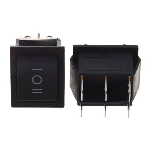 2x 6 Pin SPDT ON-OFF-ON 3 Position in Snap-Wippschalter 15A//250V 20A//125V  P5 5X