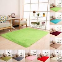 Fluffy Rugs Anti-skid Shaggy Dining Home Decor Bedroom Kitchen Carpet Floor Mat
