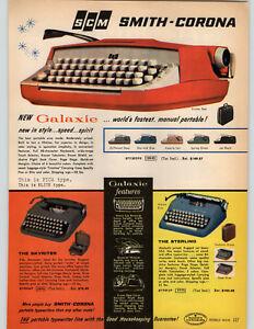 1961 PAPER AD Royal Futura 800 Portable Typewriter Diana Smith Corona Galaxie