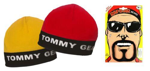 Homme Tommy Gear Ali G Sports Raga Doo Gangster Beanie Hat /& Barbiche Barbe