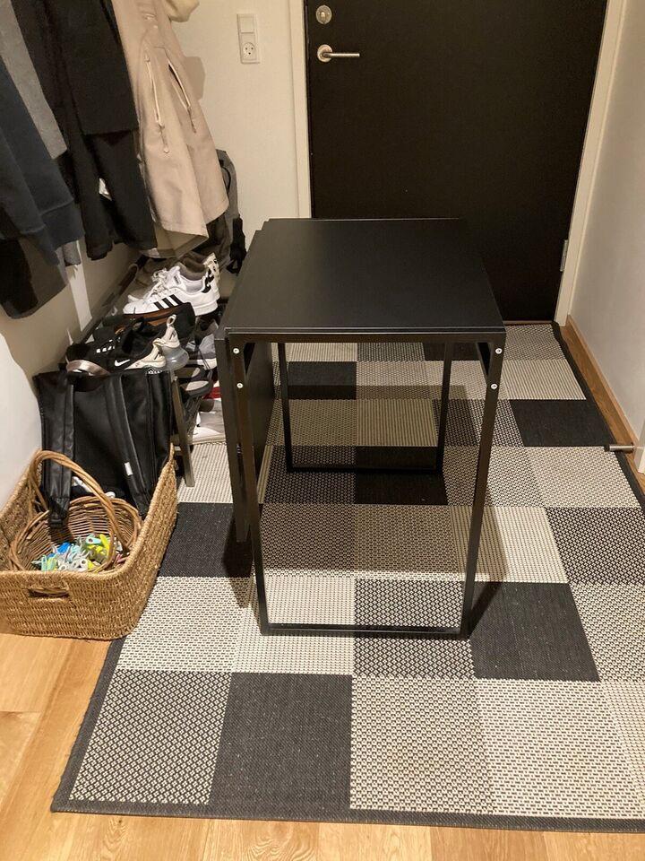 Spisebord, Metal stel og laminat plader, b: 60 l: 46