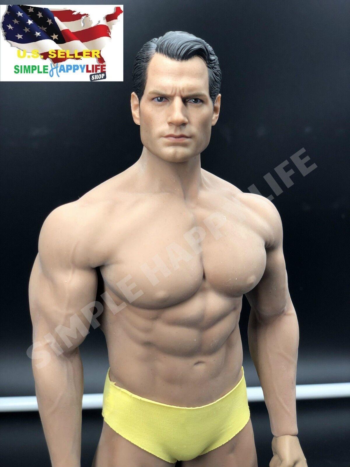 1 6 Henry Cavill súperman cabeza con Phicen Sin costuras Masculino Muscular Cuerpo M 34 ❶ USA ❶