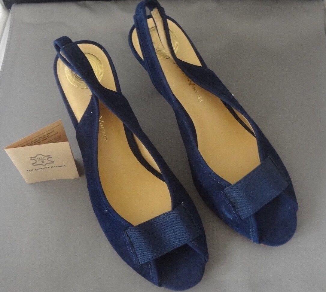 VINTAGE MODERN HIGH HEEL blu scarpe Dimensione 71 2