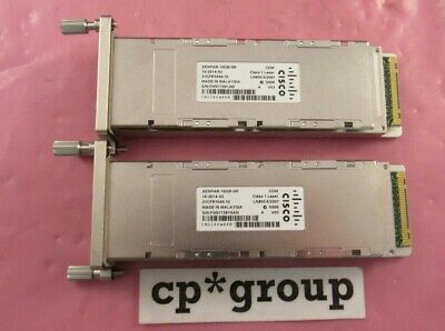Lot of 2 Genuine Cisco XENPAK-10GB-SR Optical Transceivers