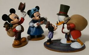 Disney-Mickey-Mouse-A-Christmas-Carol-PVC-Figure-Lot-Of-3-Tiny-Tim-Scrooge