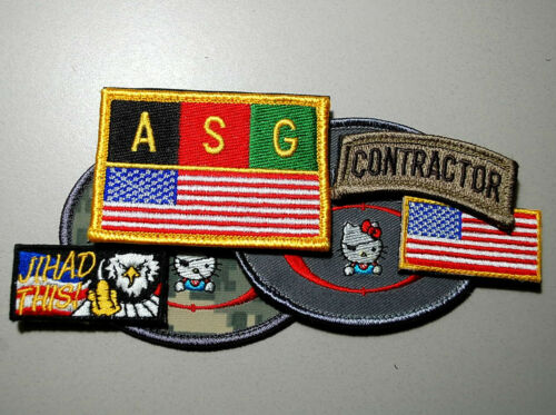 SECRET SERVICE 6-PC SET 3 Tabs ASG Kabul Private Security Contractor Iraq