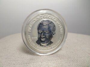 2009 President George W. Bush Neocoin $50 1 oz .999 Silver Proof Coin