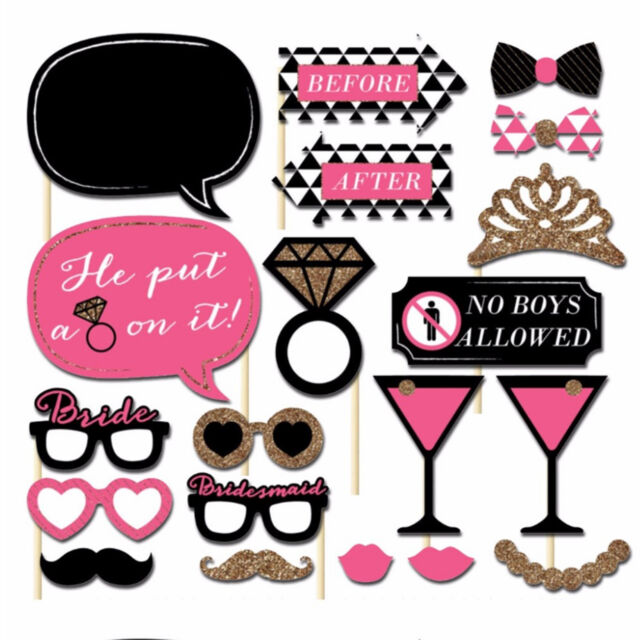 20 Photo Booth Photobooth Hens Night Bachelorette Bridal Shower Party Prop Diy