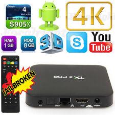 4K TV BOX TX3 PRO 4K S905x Quad Core Android6.0 smart TV Box Media Player