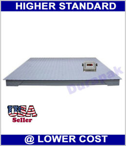 Details about 10000 lb 4'x4' Digital Floor Scale with Indicator Pallet  Weighting Warehouse