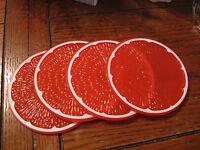 Snazzy Acrylic Orange Slice Theme Coaster Set Of 4